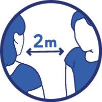Distance de 2 mètres
