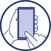 Un téléphone portable dans les mains d'une personne