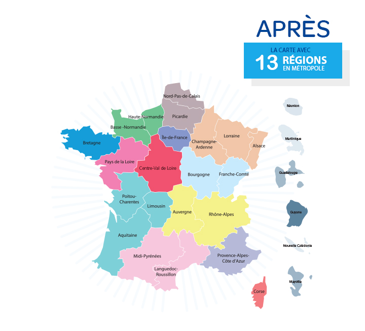 nouvelle carte des regions