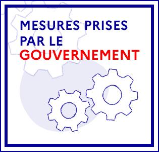 Mesures prises par le Gouvernement