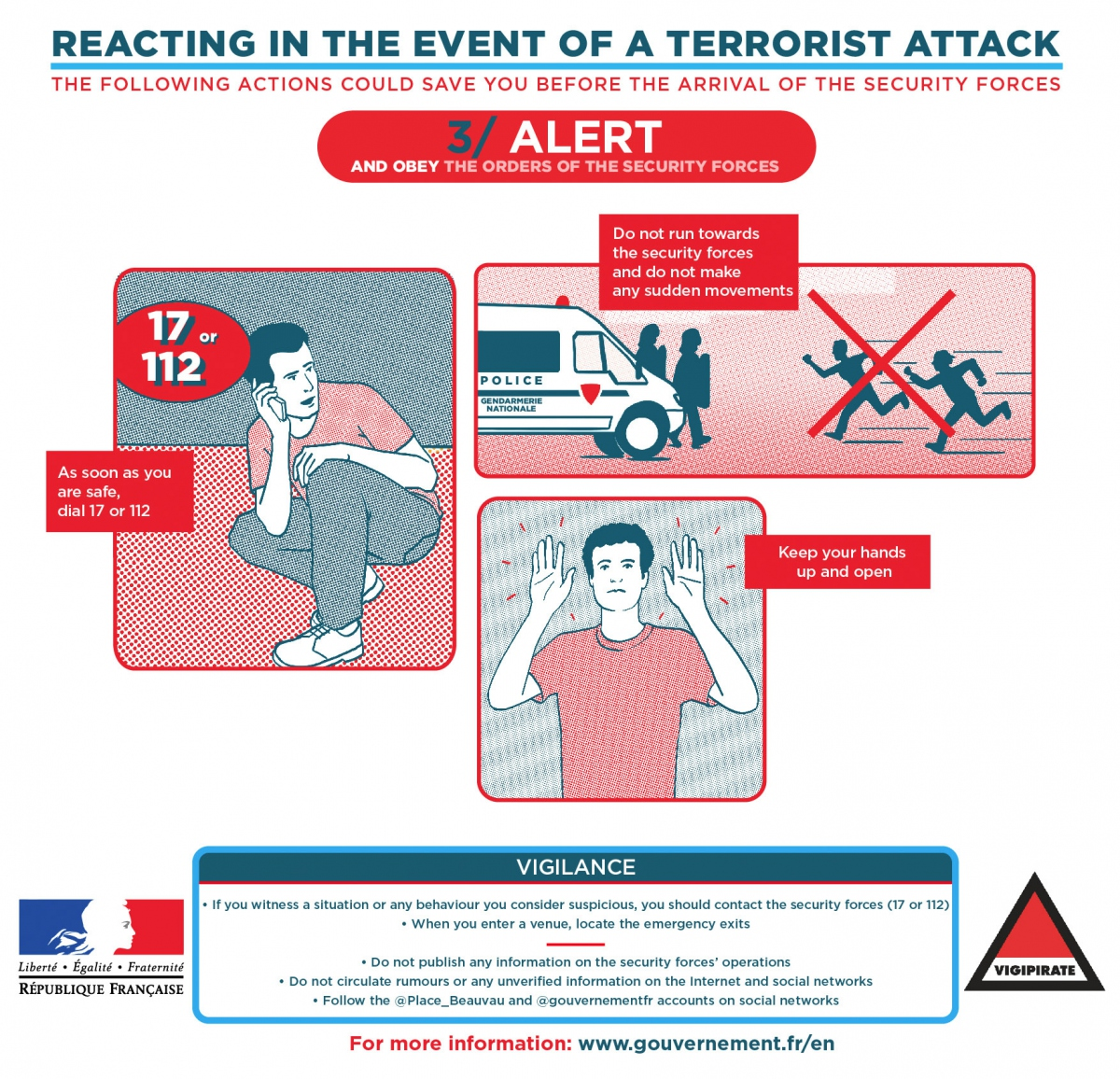 How to react in the event of a terrorist attack: alert