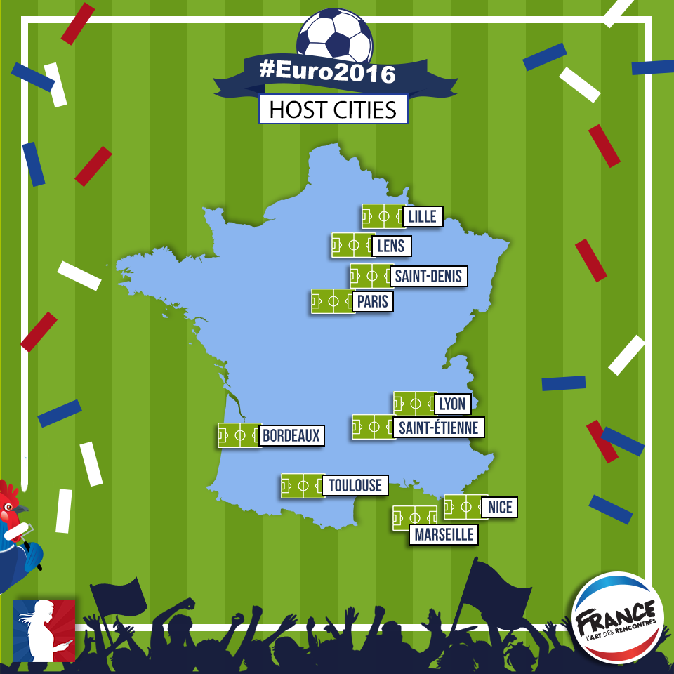 Euro 2016 host cities