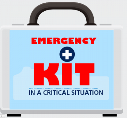 Infographic - EMERGENCY KIT IN A CRITICAL SITUATION