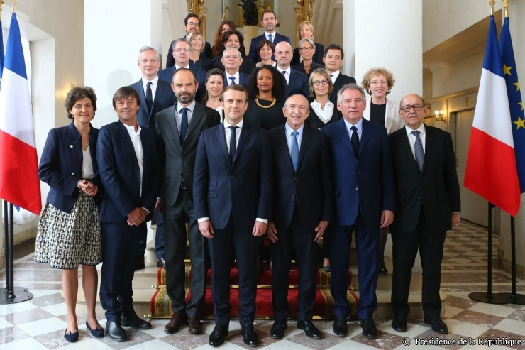 France - Philippe Government members and President Macron