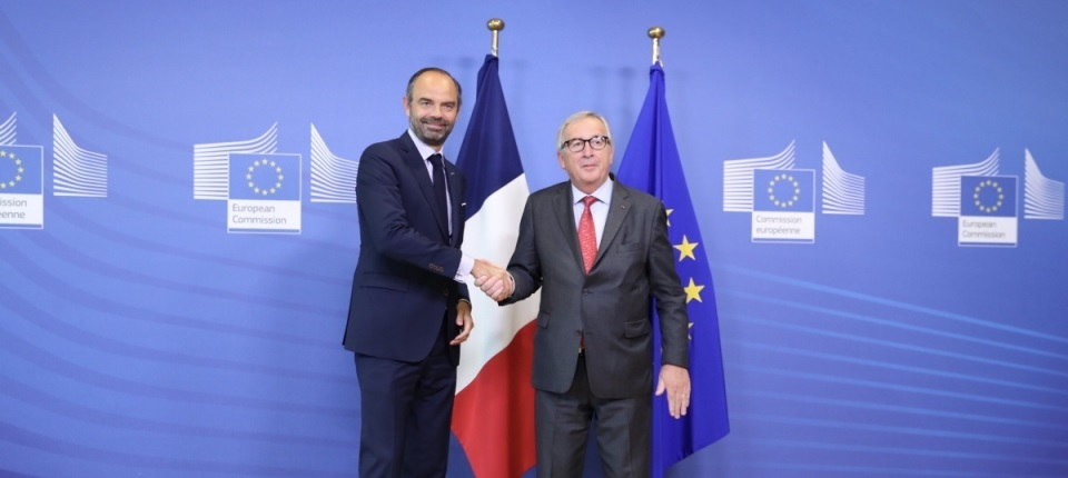 Edouard Philippe and Jean-Claude Juncker