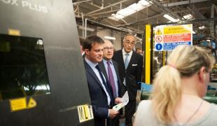 Visite de l'entreprise SAB Industries à Gasny