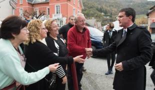 Déplacement de Manuel Valls dans les Hautes-Pyrénées