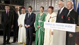 Remise des décorations décernées par le royaume du Maroc à trois représentants des religions musulmane, juive et catholique en France