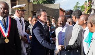 Déplacement de Manuel Valls à Mayotte