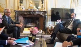 Entretien entre le Premier ministre, Edouard Philippe, et Jean Pisani-Ferry