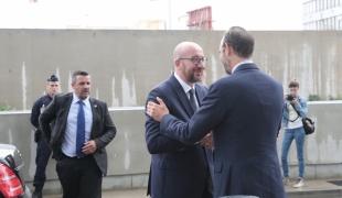 Rencontre bilatérale entre Le Premier ministre, Édouard Philippe, et son homologue belge, Charles Michel