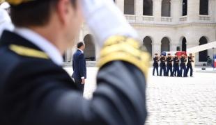 Cérémonie d'honneurs funèbres militaires à Claude Lanzmann