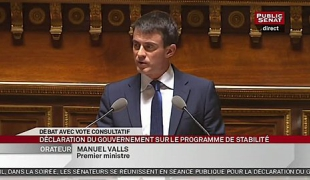 Discours de Manuel Valls au Sénat sur le programme de stabilité budgétaire 2015-2017