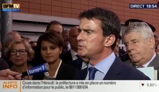 Intempéries dans l'Hérault : Manuel Valls détaille l'action du Gouvernement