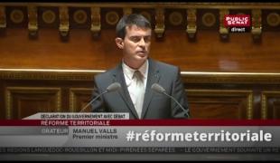 L'essentiel du discours de Manuel Valls au Sénat sur la réforme territoriale
