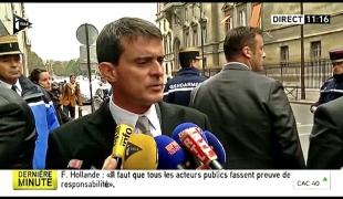 Réaction de Manuel Valls au décès de Rémi Fraisse