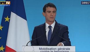 Renforcement du dispositif de lutte contre le terrorisme : conférence de presse de Manuel Valls