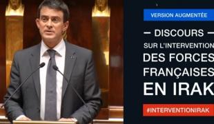 Déclaration de Manuel Valls sur l'engagement des forces françaises en Irak - version augmentée