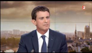 Manuel Valls au 20h de France 2