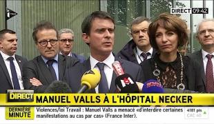 """""""J'ai tenu à venir marquer la solidarité du Gouvernement vis-à-vis des équipes de l'hôpital Necker qui ont subi une agression intolérable"""""""