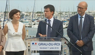 Au Grau-du-Roi, Manuel Valls présente la mission Littoral 21
