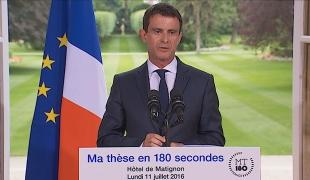 Réception des lauréats #MT180 : discours de Manuel Valls