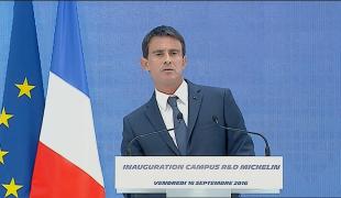 """Manuel Valls : """"la France est et sera une grande puissance industrielle"""""""