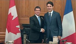 """Manuel Valls à Ottawa : """"la France entend être le partenaire européen de référence du Canada"""""""