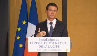 """Manuel Valls : """"la laïcité, c'est la philosophie pratique de notre République"""""""