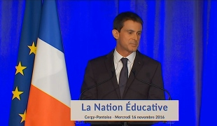 """Manuel Valls :""""le 21e siècle peut être celui d'une Nation éducative ! """""""