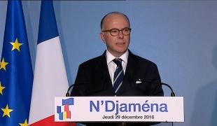 Déplacement de Bernard Cazeneuve au Tchad