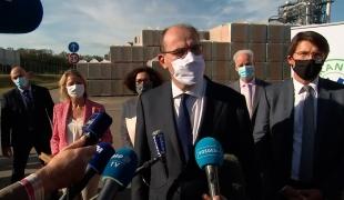 France Relance : déclaration de Jean Castex à l'usine Pavatex de Golbey, dans les Vosges