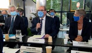 Déclaration de Jean Castex à l'usine Bic de Montévrain