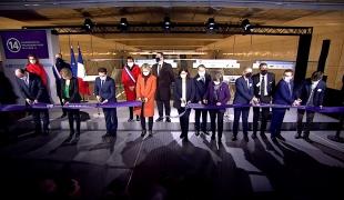 Inauguration de l'extension de la ligne 14 du métro de Paris