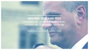 Première rentrée scolaire pour le ministre de l'Éducation nationale