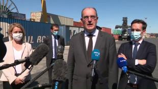 Fret ferroviaire : déclaration de Jean Castex à Valenton