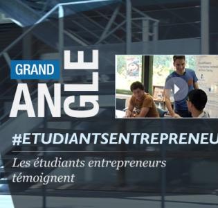 Vignette du grand angle sur les étudiants entrepreneurs