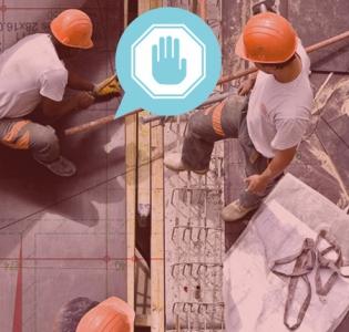 Photo d'ouvrier du BTP en train de travailler sur un immeuble en construction