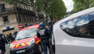 Forces de l'ordre, le 1er mai 2018 à Paris