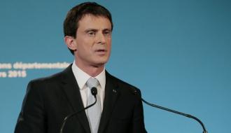 Manuel Valls à l'Hôtel de Matignon le 29 mars 2015