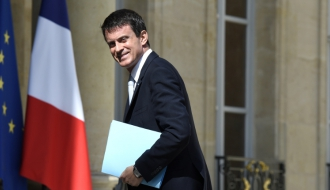 Photo de Manuel Valls arrivant à l'Elysée le 29 juillet 2015
