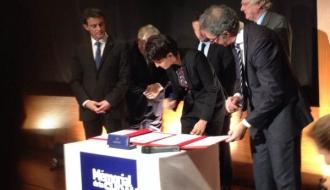 """Signature de la convention """"Histoire et Mémoire"""" au Mémorial de la Shoah"""