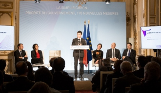 Discours de Manuel Valls lors de la présentation des 170 nouvelles mesures de simplification en faveur du développement économique et de l'emploi, à Matignon
