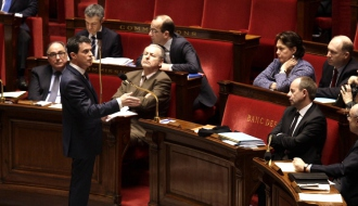 Photo de Manuel Valls à l'Assemblée nationale le 5 février 2016.