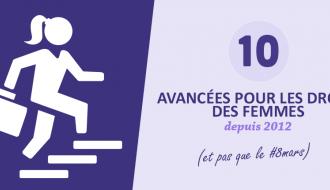 10 avancées pour les droits des femmes depuis 2012 (et pas que le #8mars)