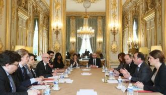 Rencontre avec le président de la République et les associations de victimes des attentats du 13 novembre
