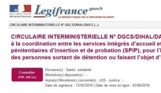 Signature d'une circulaire interministérielle pour favoriser l'hébergement et l'accès au logement des personnes sortant de prison