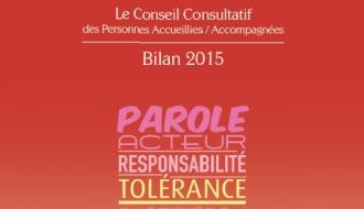 Le Conseil consultatif des personnes accueillies/accompagnées publie son bilan d'activité 2015
