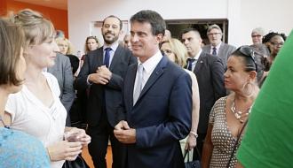 """Manuel Valls : """"Construire une  école, c'est redire avec force notre vision de l'école de la République"""""""