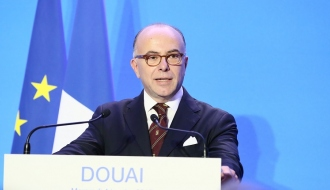 Bernard Cazeneuve à Douai, le mercredi 4 janvier 2017